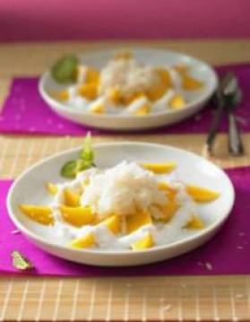 Riz gluant mangue lait de coco (khao niao mamuang) pour 5 ...