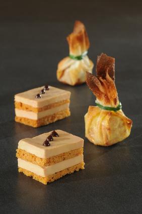 Recette de foie gras au pain d'épices façon opéra et bonbon ...