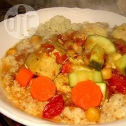 Recette couscous marocain au blé complet au poulet – toutes les ...