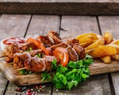 Recette brochettes de porc au curry façon thaïlandaise