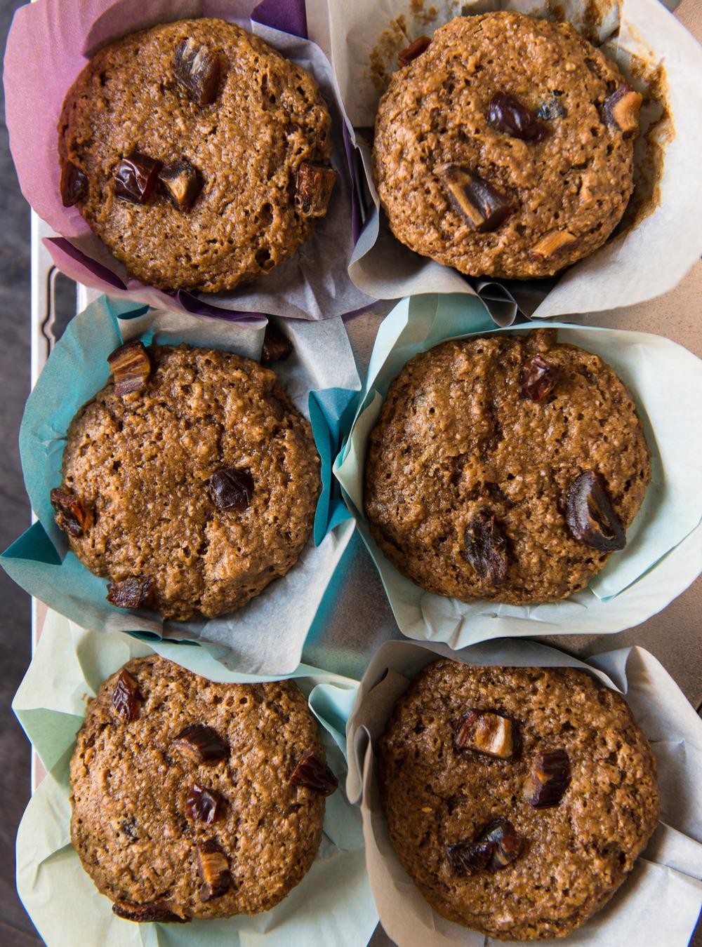 Muffins au son et aux dattes | ricardo
