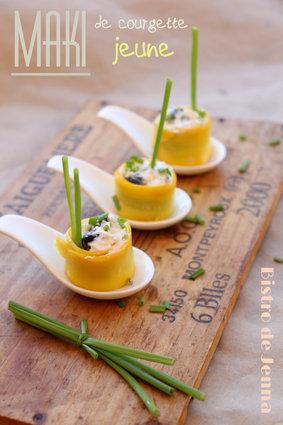 Recette de maki de courgette jaune