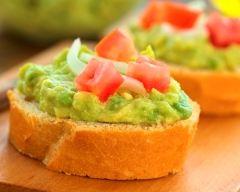 Recette tartines de guacamole