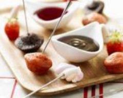 Recette fondue fraises chocolat version cocktail