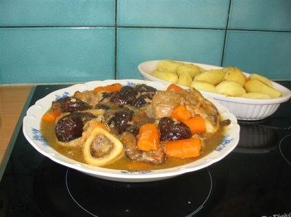 Recette de jarret de veau aux pruneaux