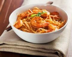 Recette curry de nouilles aux crevettes