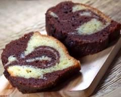 Recette cake marbré à la vanille et chocolat
