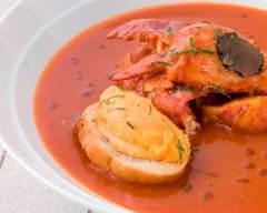 Recette bisque de homard à la rouille