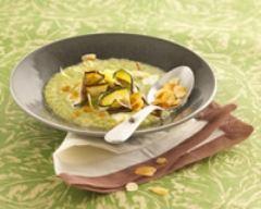 Recette crème de courgettes aux amandes