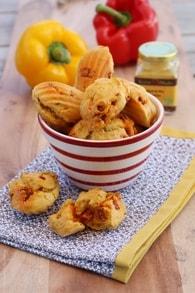 Recette de madeleines au chorizo et poivrons
