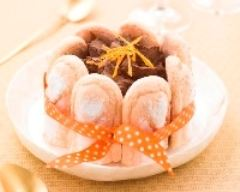 Recette charlotte au chocolat et orange confite