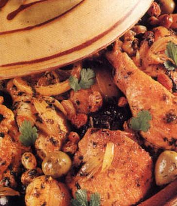 Recette de tajine de poulet aux fruits secs
