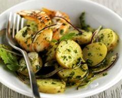Recette salade de pommes de terre aux gambas