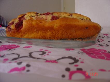 Recette de cake danette chocolat blanc et framboises