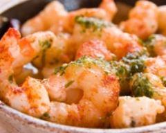 Recette crevettes flambées au wok