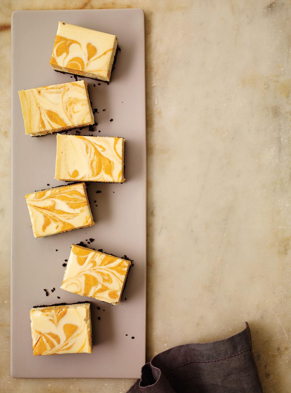 Carrés au fromage et à la citrouille   ricardo
