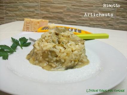 Recette de risotto aux artichauts