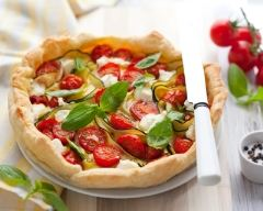 Recette tarte tomates-courgettes