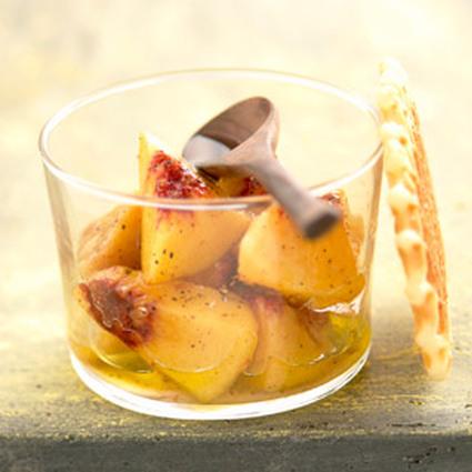 Recette de salade de pêches à l'huile d'olive