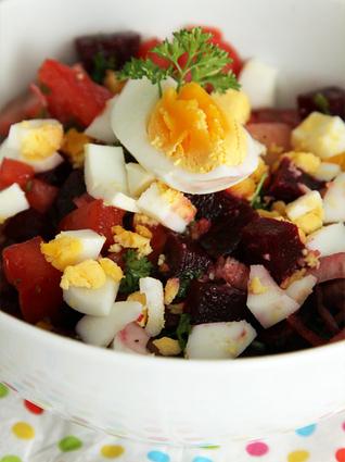 Recette de salade de betteraves à l'oeuf dur
