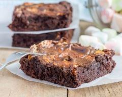 Recette brownie fondant aux chamallows et pépites de chocolat ...