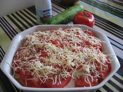 Recette de gratin de courgettes, tomates et pommes de terre