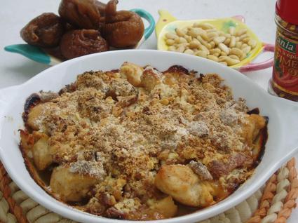 Recette de crumble de poulet aux figues