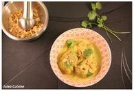 Recette de curry de porc léger, lait de coco et noix de cajou