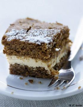 Gâteau aux noix et à la crème de mascarpone pour 4 personnes ...