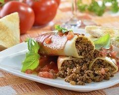 Recette cannellonis à la viande et à la sauce tomate