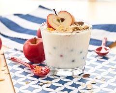 Recette yaourt gourmand au muesli et à la pomme