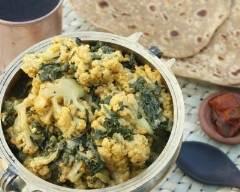 Recette curry de chou fleur et epinards