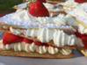 Millefeuille aux fraises pour 4 personnes
