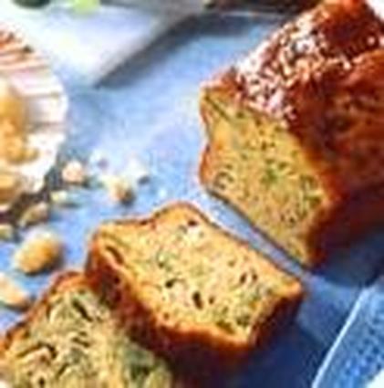 Recette de cake aux saint-jacques, poireaux et parmesan