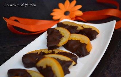 Recette oranges confites au chocolat noir