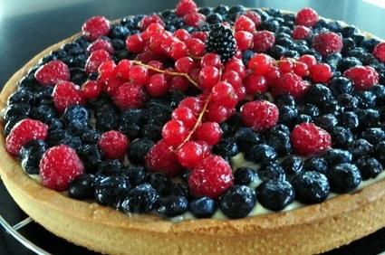 Recette de tarte aux myrtilles, groseilles & framboises