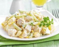 Recette salade dinde, ananas et pomme au yaourt