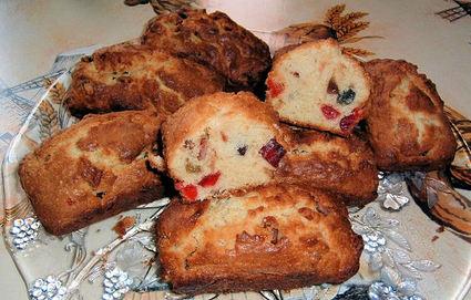 Recette de mini cakes aux fruits confits
