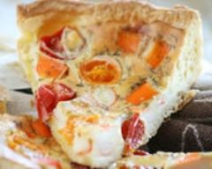 Recette quiche surimi et tomates cerises
