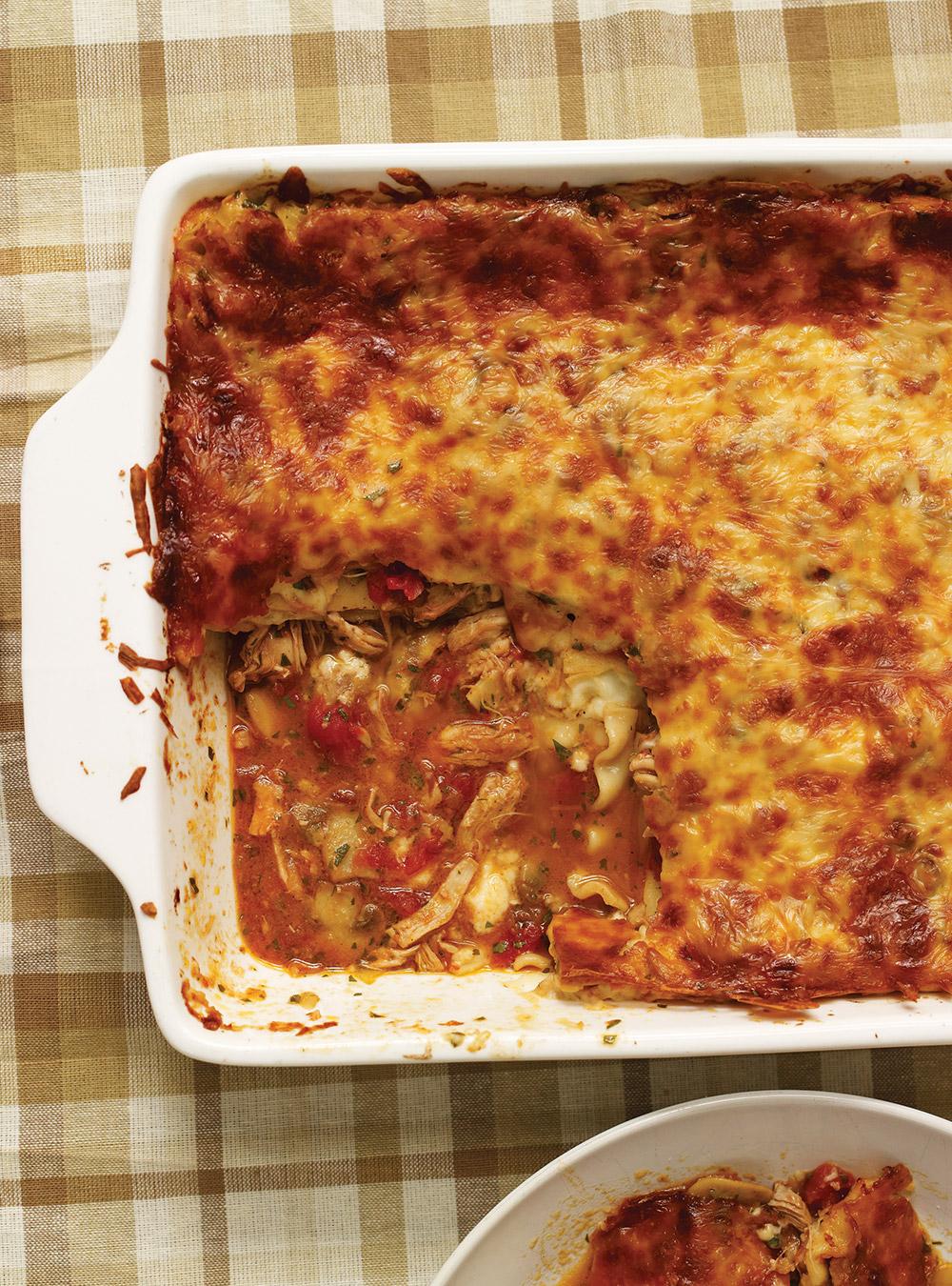 lasagne au poulet sauce au chou fleur recettes ricardo recette. Black Bedroom Furniture Sets. Home Design Ideas