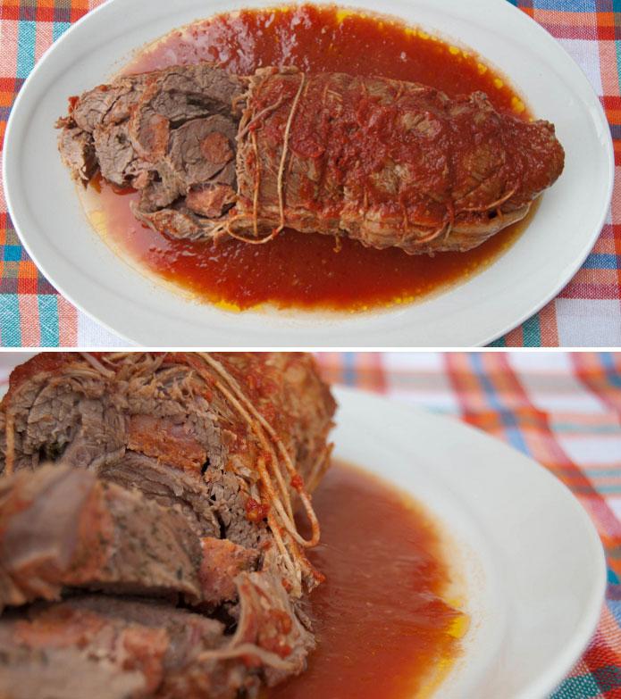 Braciola à la sauce tomate