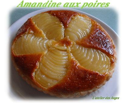Recette de tarte amandine aux poires et crème d'amandes