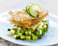 Recette tartare tout vert de concombre et légumes