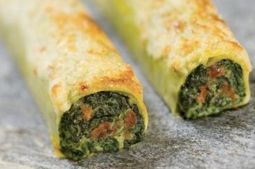 Recette de cannelloni au safran farcis aux épinards à la ricotta facile