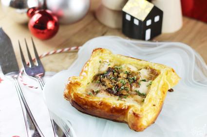Recette de feuilleté de joues de sandre, foie gras et sirop d'érable