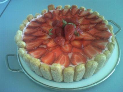 Recette charlotte aux fraises et menthe (charlotte)