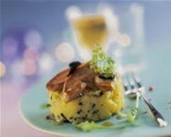 Recette parmentier de pommes de terre et foie gras
