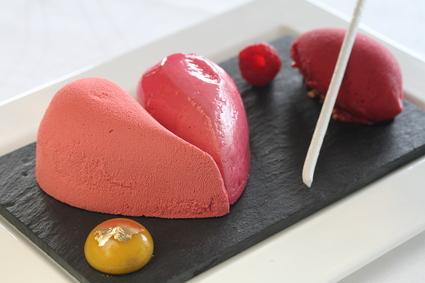 Recette de cœur st valentin aux framboises kwanza et fruit de la ...