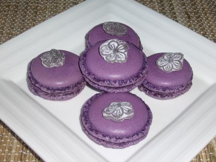 Recette de macarons à la violette