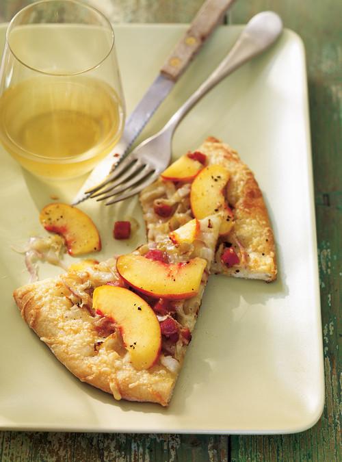 Pizzas aux endives au saucisson et aux p ches - Quantite foie gras par personne ...